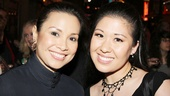 Lea Salonga poses with Ruthie Ann Miles (Here Lies Love), who counts Salonga among her favorite musical inspirations!