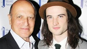 Tom Sturridge receives his Theatre World Award from previous winner Thom Christopher.