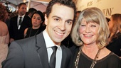 First time nominee Rob McClure poses with four-time nominee (and two-time winner!) Judith Ivey.