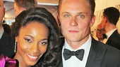 Check out Motown nominee Valisia LeKae in her ESosa gown and Billy Magnussen in Brooks Brothers.