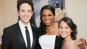 Santino Fontana snags a photo with Audra McDonald and daughter Zoe.