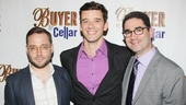 Director Stephen Brackett, star Michael Urie and playwright Jonathan Tolins are proud to celebrate their second opening. (Buyer & Cellar premiered at Rattlestick Playwrights Theater in April.)