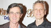 Actor/director Roger Rees and his longtime partner, writer Rick Elice, check out the show.