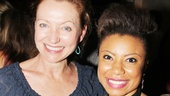 Lovely ladies! Vanya and Sonia… star Shalita Grant shows off her future castmate, Tony winner Julie White!
