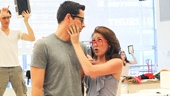 'First Date' Rehearsal — Zachary Levi — Kate Loprest