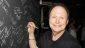 Billy Crystal is the latest celeb to leave his signature on the theater's wall off fame. Way to get kinky, Billy!