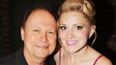 Billy Crystal takes a moment for a photo with the hilarious Annaleigh Ashford.