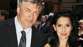 Broadway vet Alec Baldwin and his glowing wife Hilaria hit the Laura Pels Theatre for Roundabout's latest opening night.