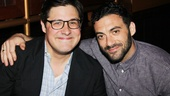 Meanwhile, Mad Men's Rich Sommer celebrates opening night with a little help from Morgan Spector, his co-star in Harvey on Broadway.
