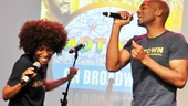 "Valisia LeKae and Brandon Victor Dixon have a ball while singing their gorgeous duet ""You're All I Need to Get By."""