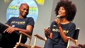 Tony nominees Brandon Victor Dixon and Valisia LeKae chat with the crowd about their experience in Motown as Berry Gordy and Diana Ross, respectively.