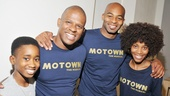 Motown stars Raymond Luke Jr., Ryan Shaw, Brandon Victor Dixon and Valisia LeKae pause for a group photo at the SoHo Apple Store.