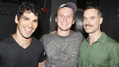 Jonathan Groff brought along Raul Castillo and Murray Bartlett, his co-stars in HBO's upcoming gay-themed dramedy, to see the Peter Pan prequel.