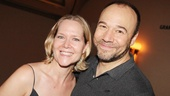 Rebecca Luker supports her husband Danny Burstein on his latest opening night.