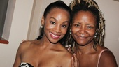 Anika Noni Rose gets some opening night love from her Caroline, or Change mama, Tonya Pinkins.