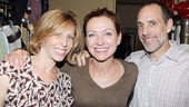 Julie White hangs out backstage with Maddie Corman, with whom she co-starred in the L.A. production of Next Fall, and Corman's husband, TV director Jace Alexander.