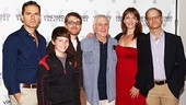 Librettist/lyricist Greg Pierce and composer John Kander are flanked by Paul Anthony Stewart, Frankie Seratch, Julia Murney and David Hyde Pierce.