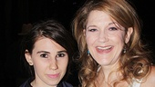 Girls star Zosia Mamet steps backstage to congratulate Cinderella's Victoria Clark.