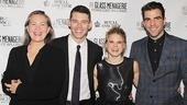 Offstage The Glass Menagerie stars Cherry Jones, Brian J. Smith, Celia Keenan-Bolger and Zachary Quinto share a laugh as they celebrate opening.