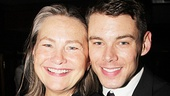 Co-stars Cherry Jones and Brian J. Smith share a tender moment at the after-party.