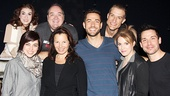 First Date cast members Kate Loprest, Krysta Rodriguez, Blake Hammond, Zachary Levi, Bryce Ryness, Sara Chase and Kristoffer Cusick join the fabulous Fran Drescher for a final group shot.