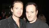 TV/film star Sebastian Stan (who appeared in the Roundabout's Picnic) hangs with actor Gregg Bello.