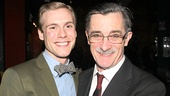 Father and son! Zachary Booth and Roger Rees spend some quality time together.