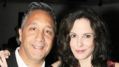 Mary-Louise Parker sneaks in a moment with Broadway costume designer Jeff Mahshie.