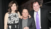 Michael J. Fox spends his special night with his TV wife Betsy Brandt and his former Spin City co-star Richard Kind. Congrats!
