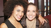 Pippin's Gabrielle McClinton and Newsies' Kara Lindsay show off their best smiles for Gypsy of the Year.
