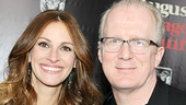 Oscar winner Julia Roberts walks the red carpet with Tony and Pulitzer Prize-winning August playwright Tracy Letts. See their new film in theaters on Christmas Day!