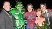 Original Spider-Man stars Patrick Page and Reeve Carney bookend Robert Cuccioli, Justin Matthew Sargent and Rebecca Faulkenberry.
