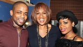 After Midnight stars Dulé Hill and Fantasia Barrino visit with Gayle King (c).