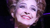 Annie Potts takes her first Broadway bow as Berthe in Pippin.