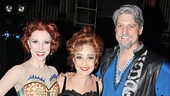 Pippin players Charlotte d'Amboise, Annie Potts & Christopher Sieber (filling in for Terrence Mann as Charles)