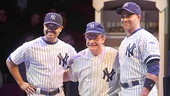 Francois Battiste as Reggie Jackson, Peter Scolari as Yogi Berra & Christopher Jackson as Derek Jeter in Bronx Bombers