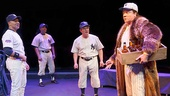 Christopher Jackson as Derek Jeter, Francois Battiste as Reggie Jackson, Peter Scolari as Yogi Berra & C.J. Wilson as Babe Ruth	in Bronx Bombers