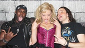 Joique Bell goes wild backstage with Rock of Ages stars Kate Rockwell and Aaron C. Finley.