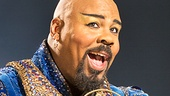 James Monroe Iglehart as the Genie in Aladdin
