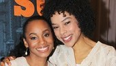 Anika Noni Rose and Sophie Okonedo come in close for a photo.