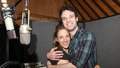 Aww! Jessie Mueller and Jake Epstein get cuddly in the booth.