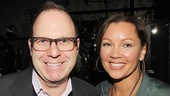 After Midnight producer Scott Sanders and Vanessa Williams catch up after the show.
