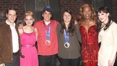After snagging medals at the 2014 Winter Olympics, slopestyle skiers Nick Goepper and Devin Logan hang out with Kinky Boots stars Andy Kelso, Annaleigh Ashford, Billy Porter and Lena Hall.