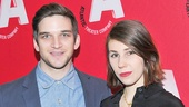 Evan Jonigkeit and his girlfriend, Girls star Zosia Mamet, strike a pose on the red carpet.