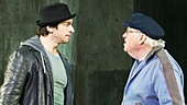 Andy Karl as Rocky Balboa & Dakin Matthews as Mickey in Rocky