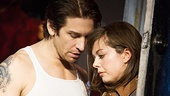Andy Karl as Rocky Balboa & Margo Seibert as Adrian in Rocky