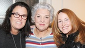 Rosie O'Donnell and her wife Michelle Rounds rally around Tyne Daly. See Mothers and Sons at the Golden Theatre!