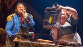 Keala Settle as Madame Thenardier & Cliff Saunders as Monsieur Thenardier in Les Miserables Photo by Michael Le Poer Trench