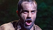 Ramin Karimloo as Jean Valjean in Les Miserables Photo by Matthew Murphy