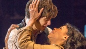 Andy Mientus as Marius with Nikki M. James as Eponine in Les Miserables Photo by Matthew Murphy